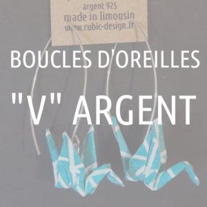 """Boucles d'oreille Argent en """"V"""""""